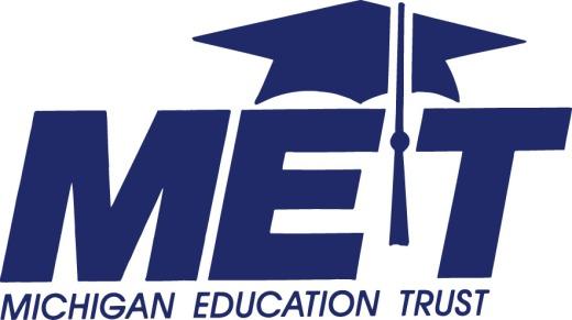 MET logo in blue